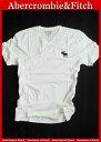 【送料無料】アバクロ Abercrombie&Fitch【正規品】【メンズ】ビッグムース刺繍 VネックTシャツ/White