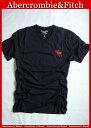 【送料無料】アバクロ Abercrombie&Fitch【正規品】【メンズ】ビッグムース刺繍 VネックTシャツ/Navy
