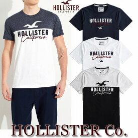 【送料無料】【クリックポスト発送】ホリスター HOLLISTER Co.【正規品】【メンズ】半袖 ロゴアップリケ Tシャツ【全4色】Heather Navy and White/Heather Grey and Black/White/Navy