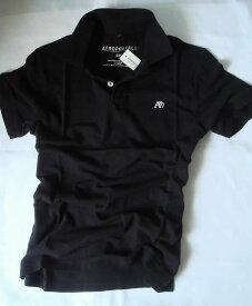 【送料無料】エアロポステール Aeropostale【正規品】【メンズ】Men's A87 Polo 半袖 鹿の子 ポロシャツ/ブラック【S/M/L/XL/XXL】【あす楽対応】