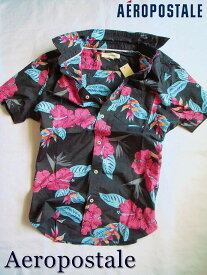 【送料無料】エアロポステール Aeropostale【正規品】【メンズ】半袖 シャツ アロハシャツ カジュアルシャツ/Dark Ash(フローラル柄)【あす楽対応】