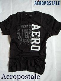 【メール便送料無料】エアロポステール Aeropostale【正規品】【メンズ】半袖 ロゴアップリケ Tシャツ/ブラック