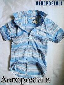 【送料無料】エアロポステール Aeropostale【正規品】【メンズ】半袖 シャツ カジュアルシャツ/Electro Blue【あす楽対応】
