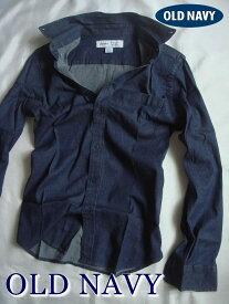 【送料無料】オールドネイビー OLD NAVY【正規品】【メンズ】Regular-Fit Flex Chambray Shirt カジュアルシャツ 長袖シャツ シャンブレーシャツ/Dark Wash【あす楽対応】