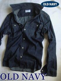【送料無料】オールドネイビー OLD NAVY【正規品】【メンズ】Denim Shirt デニムシャツ/Dark Denim【あす楽対応】