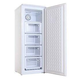 冷凍庫 家庭用 小型 ファン式 前開き スリム 霜取り不要 ミニ冷凍庫 右開き 107L 4段引き出し ALLEGiA アレジア 冷凍ストッカー 業務用 大容量 大型 節電 ホワイト おしゃれ ギフト AR-BD120-NW 備蓄 まとめ買い 冷凍食品