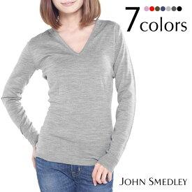 JOHN SMEDLEY ジョンスメドレー ORCHID Vネック 長袖ニット 全7色