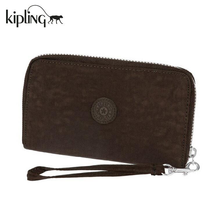 Kipling キプリング K10625 OLVIE ERISTLET ラウンドファスナー長財布 カーキ