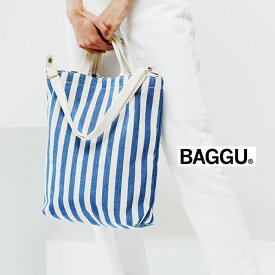 BAGGU バグゥ 2WAYトートバッグ DUCK BAG SUMMER STRIPE ショッピングバッグ