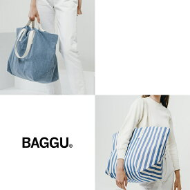 BAGGU バグゥ 2WAYトートバッグ WEEKEND BAG 全2デザイン ショッピングバッグ ウイークエンドバッグ