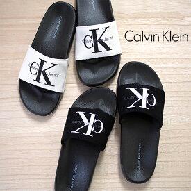 Calvin Klein カルバンクライン レディースシャワーサンダル 全2色 CHANTAL CANVAS 34R9587