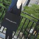 【メール便可】 DEAN&DELUCA ディーン&デルーカ キャンバストートバッグ Lサイズ ブラック エコトート LARGE CANVAS TOTE