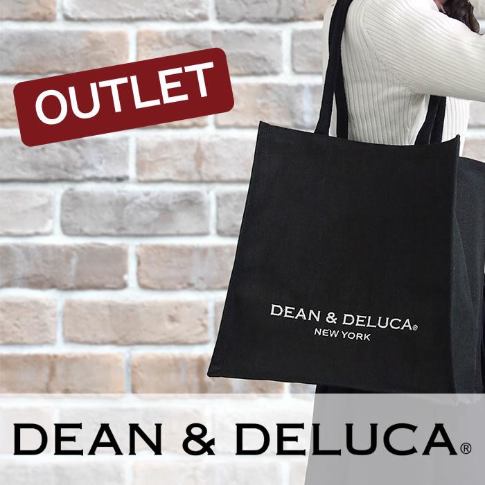 【アウトレット】DEAN&DELUCA ディーン&デルーカ ニューヨーク限定 キャンバストートバッグ Mサイズ ブラック 101739 101742
