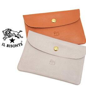 IL BISONTE イルビゾンテ フラットポーチ 小物入れ 全2色 SCA007 イルビゾンテ ミニポーチ C0387