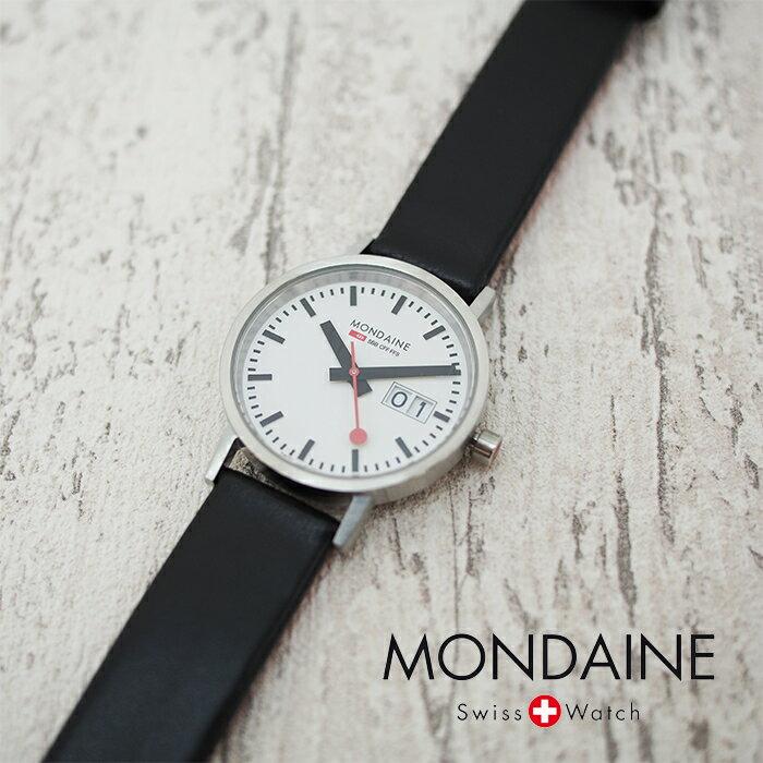 MONDAINE モンディーン CLASSIC クラシック 33mm A669.30008.16SBO ホワイトダイアル ブラックレザー マットケース 腕時計