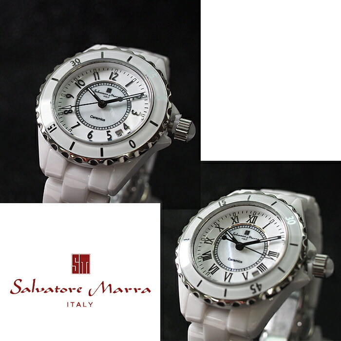 Salvatore Marra サルバトーレマーラ フルセラミック 腕時計 SM15120 ホワイト 全2デザイン 時計/ウォッチ/メンズ レディース