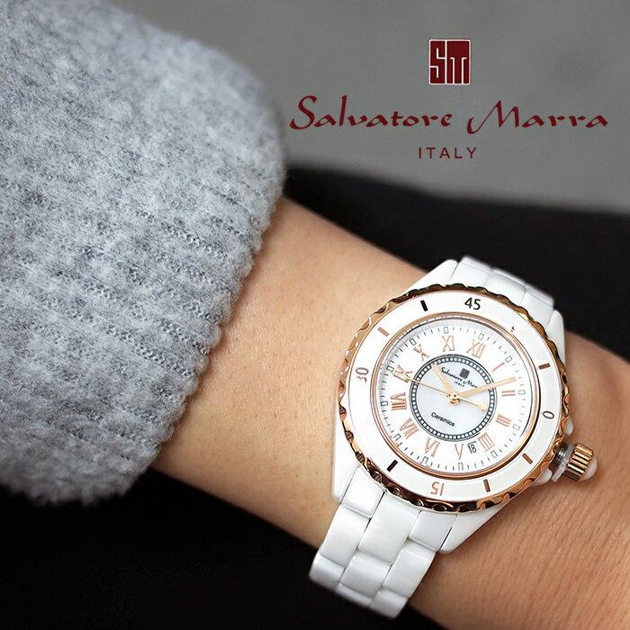 Salvatore Marra サルバトーレマーラ フルセラミック 腕時計 SM15151 ホワイト 全4デザイン 時計/ウォッチ/レディース