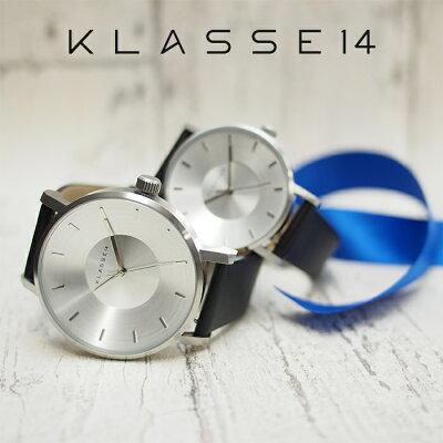 KLASSE14クラス14腕時計ペアウォッチメンズレディース36mm&42mmVOLAREシルバー×ブラッククラスフォーティーン