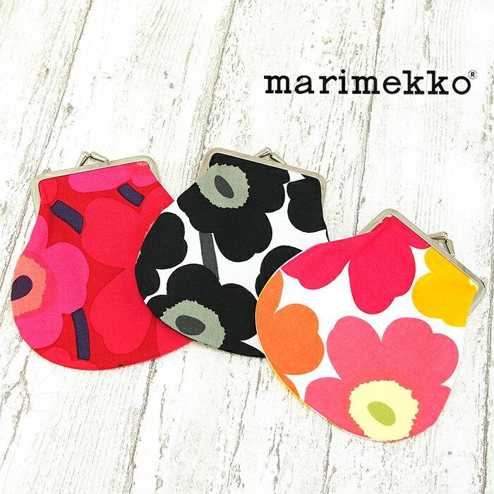 【メール便可】 MARIMEKKO マリメッコ がま口 ポーチ 全3色 MINI UNIKKO PENI KUKKARO