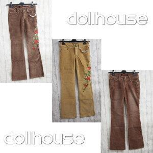 dollhouse ドールハウス レディース コーデュロイパンツ ブーツカット バギー BOOTCUT 全2デザイン