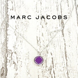 MARC JACOBS マークジェイコブス ネックレス ENAMEL DISC シルバー×パープル M0008546 500 マークバイマークジェイコブス ネックレス