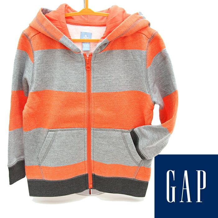 baby GAP ベビーギャップ ジップアップ パーカー グレー×オレンジ 110cm 4歳 子供服 子供用 キッズ ジュニア
