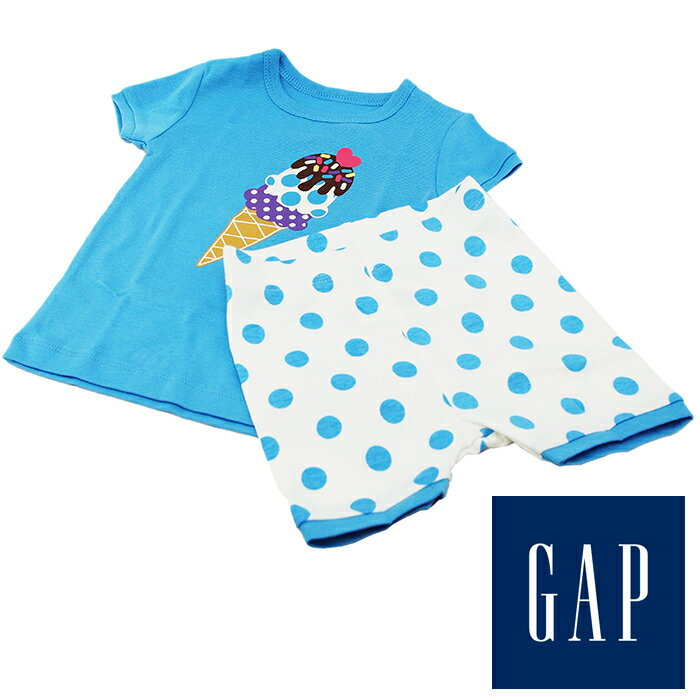 baby GAP ベビーギャップ Tシャツ パンツセット ホワイト×ブルー 80cm 12-18ヶ月 90cm 18-24ヶ月 セットアップ 子供服 子供用 キッズ ジュニア
