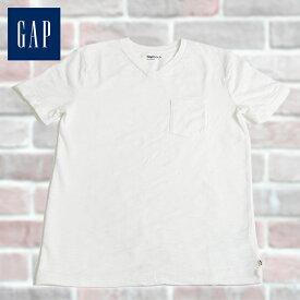 GAP Kids ギャップ キッズ 半袖 VネックTシャツ ホワイト 130cm 140cm 子供服 子供用 キッズ ジュニア 男の子