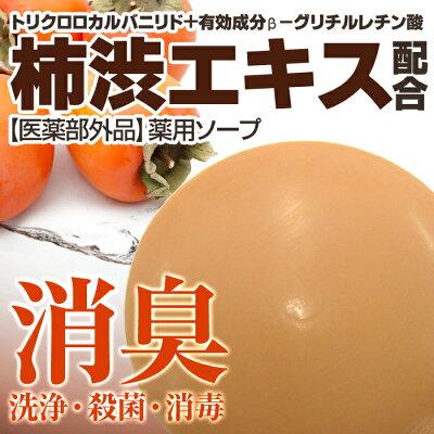 デオドラント薬用ソープ100g(医薬部外品)洗浄・殺菌・消毒・消臭・柿渋・柿タンニン
