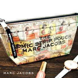 MARC JACOBS マークジェイコブス コスメポーチ マルチ M0015101 ザ コミック ストリップ ラージ コスメティック 化粧ポーチ