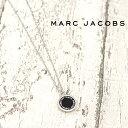 MARC JACOBS マークジェイコブス ネックレス ENAMEL DISC シルバー×ブラック M0008546 068 マークバイマークジェイコブス ネックレス