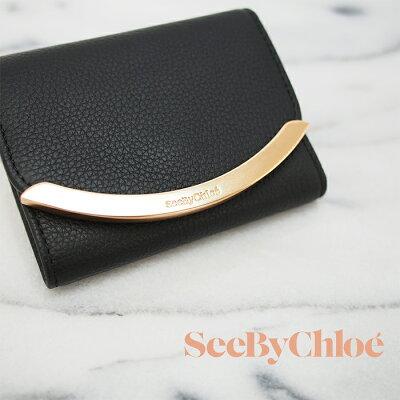SEEBYCHLOEシーバイクロエ三つ折財布ブラックSHC17WP580349レディース財布ミニ財布シーバイクロエ財布
