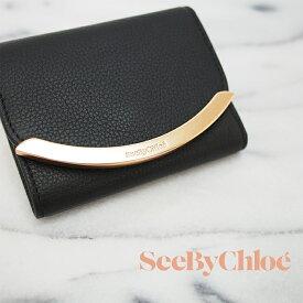 SEE BY CHLOE シーバイクロエ 三つ折財布 ブラック SHC17WP580349 レディース財布 ミニ財布 シーバイクロエ 財布