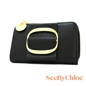 SEE BY CHLOE シーバイクロエ ニつ折財布 ブラック CHS19UP864388 HOPPER フーパー レディース財布 L時ファスナー シーバイクロエ 財布