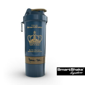 SmartShakeスマートシェイク シグネチャー ロニー・コールマン エディション 800ml ネイビー×ゴールド ピルケース プロテインシェイカー