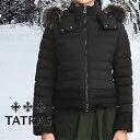 TATRAS タトラス レディース ダウンジャケット LTKE20A4164-D VARENA BLACK/ブラック 切り替え マットナイロン ファー付き タトラス ダ…