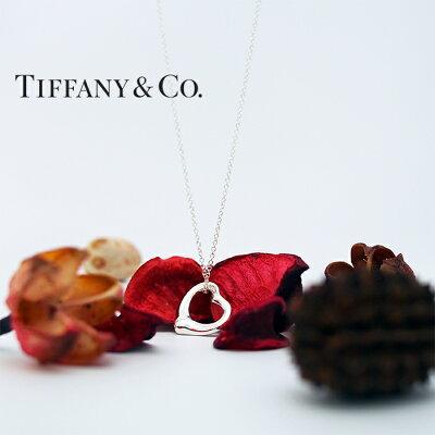 TIFFANY&Co.ティファニーネックレススモールオープンハートペンダントシルバー10660092