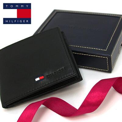 TOMMYHILFIGERトミーヒルフィガー二つ折り財布ブラックトミーヒルフィガー財布31TL25X020