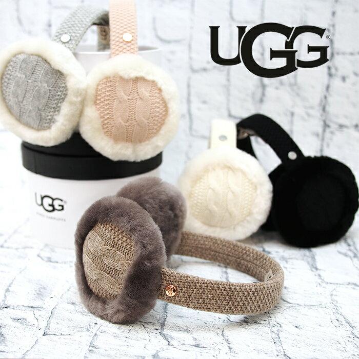 UGG アグ スピーカー付きイヤーマフラー イヤマフ 耳あて シープスキン スピーカー内蔵(マイク付) 全5色 CABLE EARMUFF