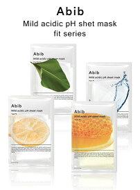 Abib アビブ 弱酸性phシートマスク フィット 4種類から1種類選べる 1枚 アクア 柚子 ハニー ドクダミ ハートリーフ 韓国コスメ 韓国パック メール便 送料無料