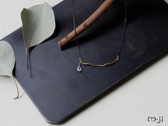 ro-ji Thida ネックレス レインボームーンストーン tn042(M) 真鍮の繊細なゆらぎを楽しむシンプルなネックレス