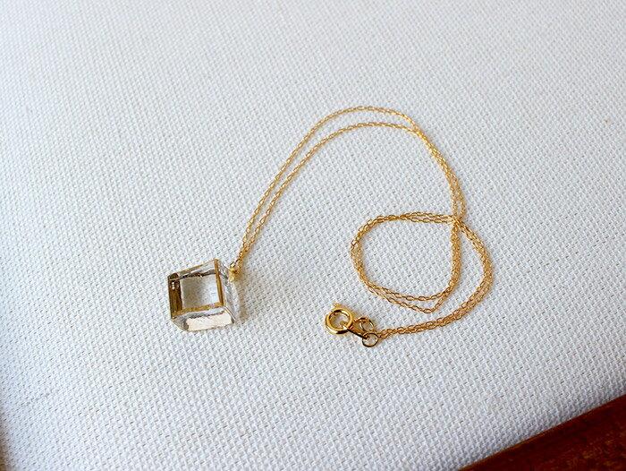 sorte glass jewelry ネックレス SGJ-023 ガラスと金の繊細な組み合わせを楽しむネックレス