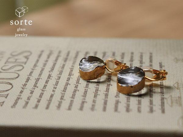 sorte glass jewelry イヤリング SGJ-008E ガラスと金の繊細な組み合わせを楽しむイヤリング
