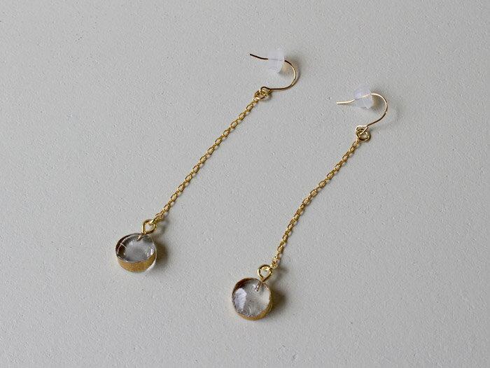 sorte glass jewelry ピアス SGJ-019P ガラスと金の繊細な組み合わせを楽しむピアス