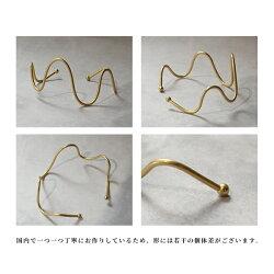 レディースバングル『イエルトウェーブバングル』ブレスレットメンズゴールド日本製腕輪波型シンプルユニセックス軽量カジュアルブラスギフト大人マットゴールドウェーブラインアデペシュ2019aw『予約受付中』