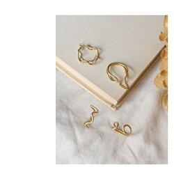 レディースリング指輪『イエルトウェーブリングカフチェーン』メンズゴールド11号日本製フリーサイズ波型イヤーカフユニセックス軽量カジュアルシックブラス大人マットゴールドアデペシュ2019aw『予約受付中』