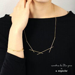 ネックレスレディース『オプティルリルトネックレス』ゴールド華奢線モチーフブラス真鍮きれいめカジュアル日本製大人金属製セレブパーティーシックモード『予約受付中』