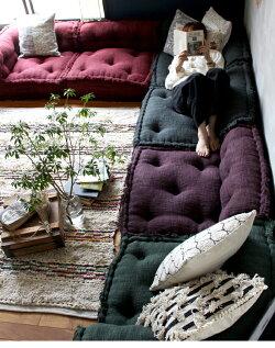 ローソファーコーナー『スタイルマルチソファコーナー』1人掛け送料無料座椅子システムフロアソファークッションセパレートL字別売り布張りコンパクトエスニックアジアン一人暮らし無地アデペシュ2019aw