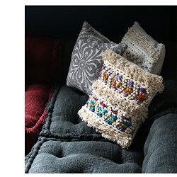 『BMSクッションカバーMCRミックス』おしゃれ45×45cmクッションコットンシャギーリビングインテリア寝室モダンアジアン雑貨インドカジュアル綿エスニックモロカンアデペシュ2019aw