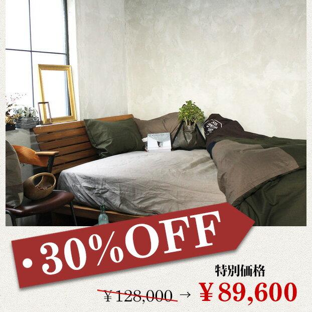 [ポイント2倍]『30%OFF!』ムノル スリットバック ベッド 【シングル】 Mnol slit-back bed 【single】 チーク無垢材の風合いを感じながら過ごす【送料無料】